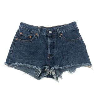 Levi's 501 Button Fly Cutoff Jean Shorts Cotton 25